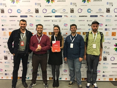 Pollenity ex. Bee Smart Technologies team at Central European Startup Awards